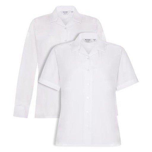 Revere Blouses - White (Twin Pack)