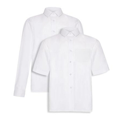 Tie Collar Blouses - White (Twin Pack)