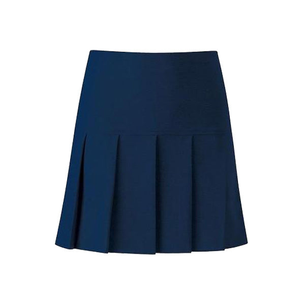 Charleston Pleated Skirt - Navy