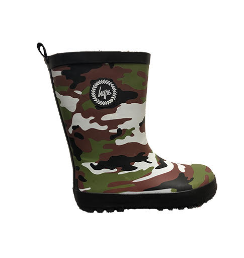Hype Green Camo Wellies