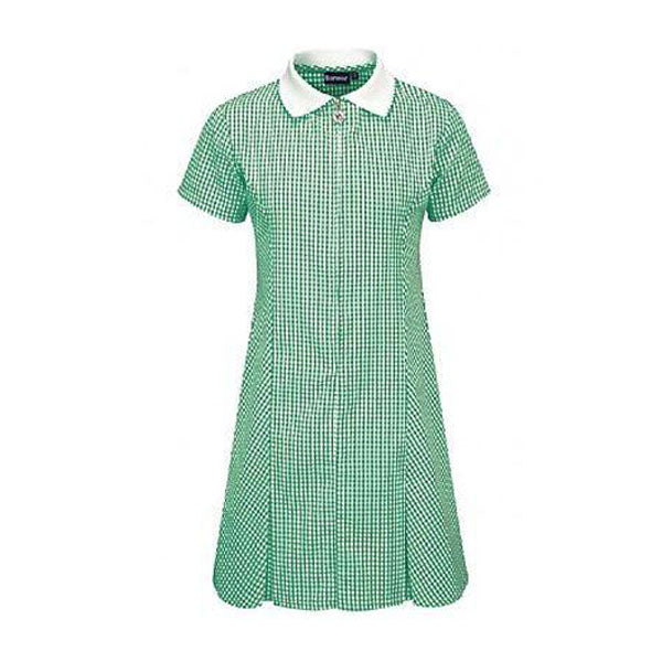 Gingham Dress - Green