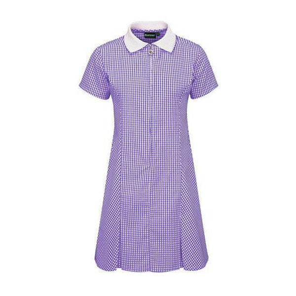 Gingham Dress - Purple