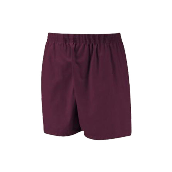Cotton PE Shorts - Maroon