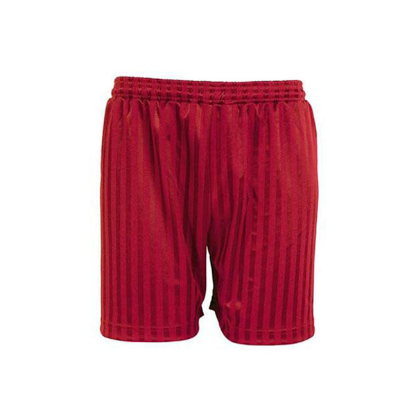 Shadow Stripe Shorts - Red