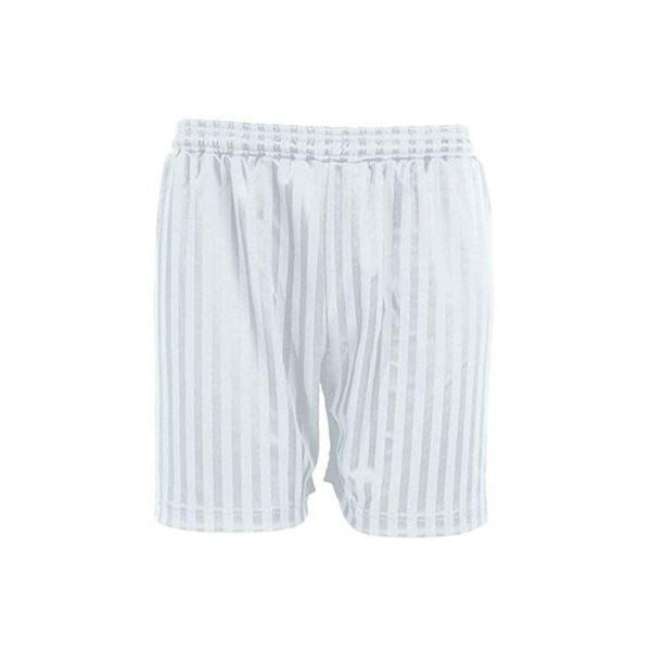 Shadow Stripe Shorts - White