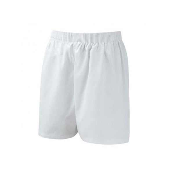 Cotton PE Shorts - White
