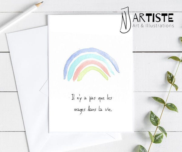 <transcy>Greeting card - Rainbow</transcy>