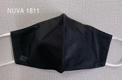 Pro black reusable washable facemask made from NUVA 1811 silk cotton