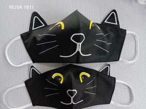 Cat black - face mask with NUVA 1811 water repellent technology
