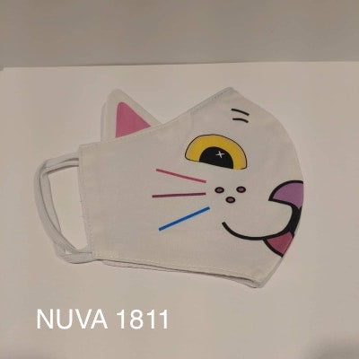 Cat white - face mask with NUVA 1811 water repellent technology