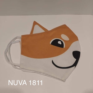 Fox brown - face mask with NUVA 1811 water repellent technology