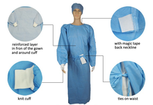 Load image into Gallery viewer, Disposable Surgical Gown