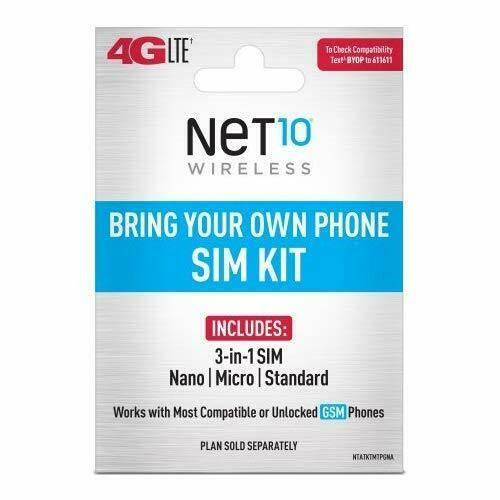 Net10 Starter Package 1GB 4GLTE New number