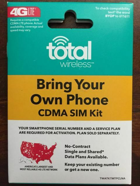 Total Wireless Sim 3-1 Loaded (25GB Data)