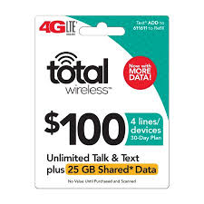 Totalwireless Pin Family (4) Line credit