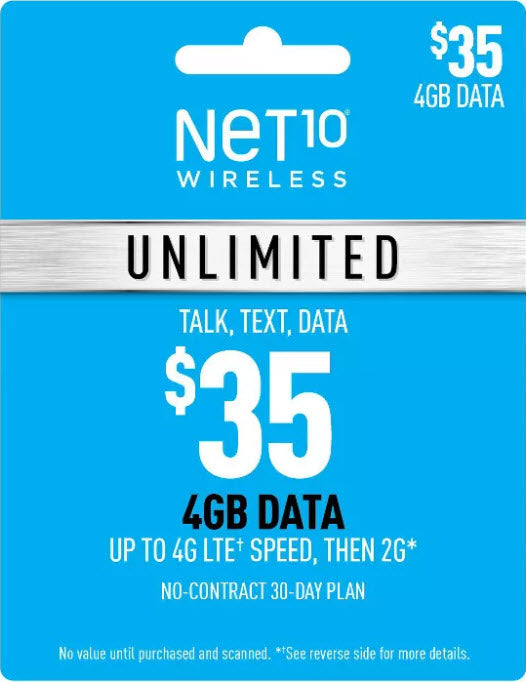 Unlimited Nationwide Talk & Text Pin credit