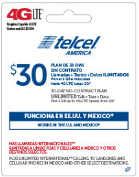 Telcel America Pin Credit Month