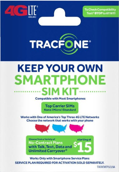 Tracfone Activated sim card (3-1) T_mobile BYOP