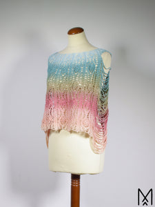 LOTUS | Ombre crochet shirt with open sides | S-M