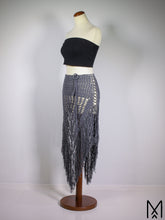 Load image into Gallery viewer, WILDTHING Anthracite | XS-S | Multi-way triangle fringe skirt