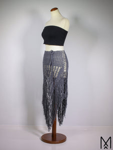WILDTHING Anthracite | XS-S | Multi-way triangle fringe skirt