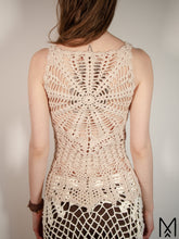 Load image into Gallery viewer, LILJA Long | Organic crochet top with mandala back | M/38