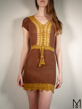 Load image into Gallery viewer, SILVIA | Unique short-sleeve bohemian mini lace dress | S/M
