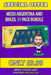 **SPECIAL OFFER** Brazil 11 Player Team Pack and Lionel Messi Argentina!