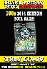 **BLACK FRIDAY DEAL** 100 x SoccerStarz (2014) Blind Sachet / Foil Bag