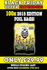 **BLACK FRIDAY DEAL** 100 x SoccerStarz (2015) Blind Sachet / Foil Bag