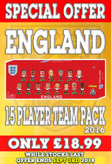 **SPECIAL OFFER** England - 15 Player Team Pack (2016)
