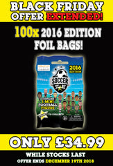 **BLACK FRIDAY DEAL** 100 x SoccerStarz (2016) Blind Sachet / Foil Bag