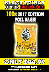 **BLACK FRIDAY DEAL** 100 x SoccerStarz (2017) Blind Sachet / Foil Bag