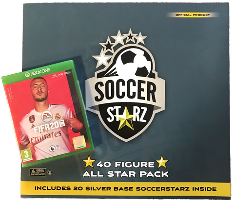 SoccerStarz 40 Figure All Star Pack and FIFA 20 on XBox One Game Bundle