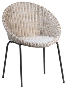 MKO Dining Chair- Grey White Wash