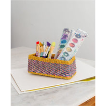 Load image into Gallery viewer, All Purpose Storage Tray | Yellow + Pink | Blue