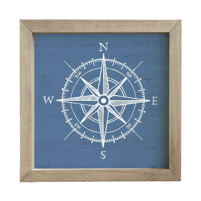 Blue Compass Rustic Frame