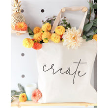 Load image into Gallery viewer, Create Cotton Canvas Tote Bag