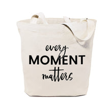 Load image into Gallery viewer, Every Moment Matters Canvas Tote Bag