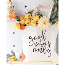Load image into Gallery viewer, Good Vibes Only Canvas Tote Bag