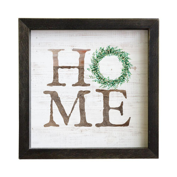 Home Wreath Rustic Frame