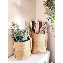 Load image into Gallery viewer, Kata Basket with Handles - Natural (Set of 2)