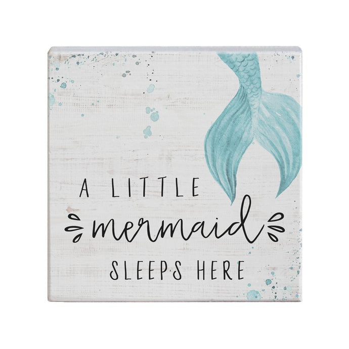 Little Mermaid Sleeps Small Talk Square