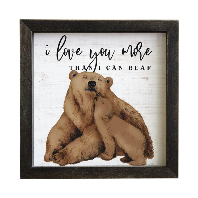 Love You Bear Rustic Frame