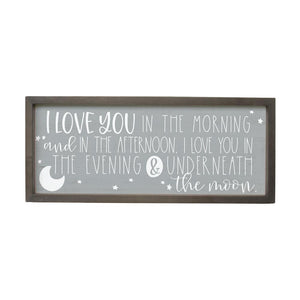 Love You In The Morning Farmhouse Frame