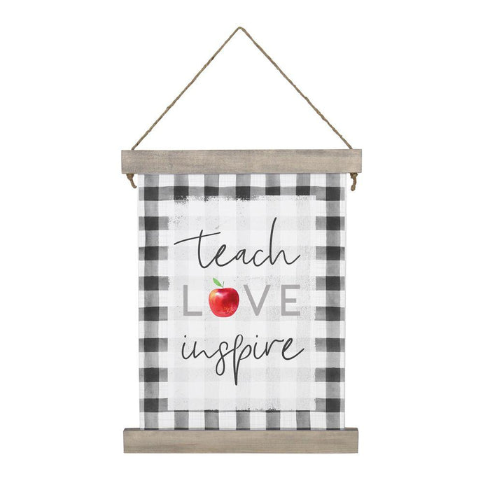 Teach Love Inspire Hanging Canvas