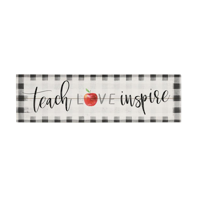 Teach Love Inspire Vintage Pallet Board