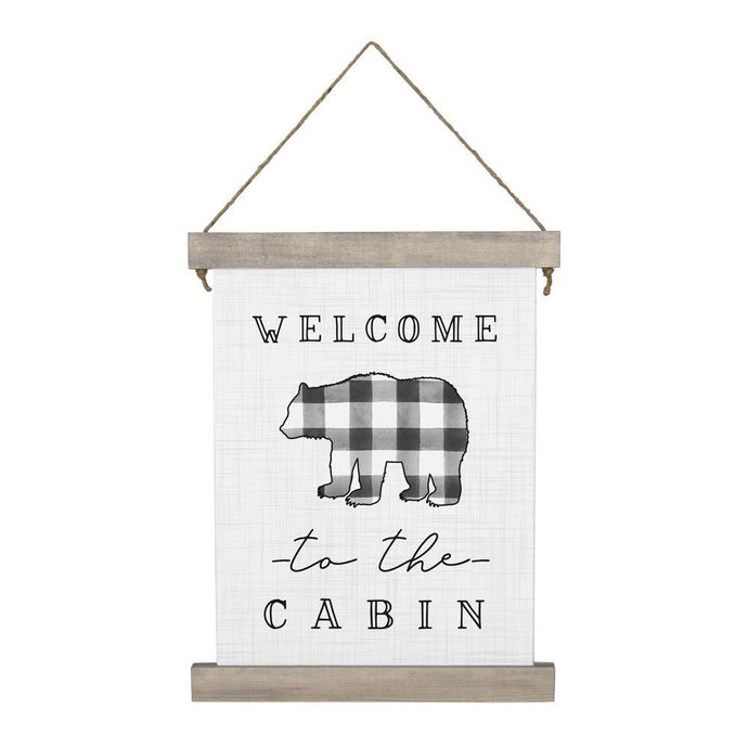 Welcome To The Cabin Hanging Canvas