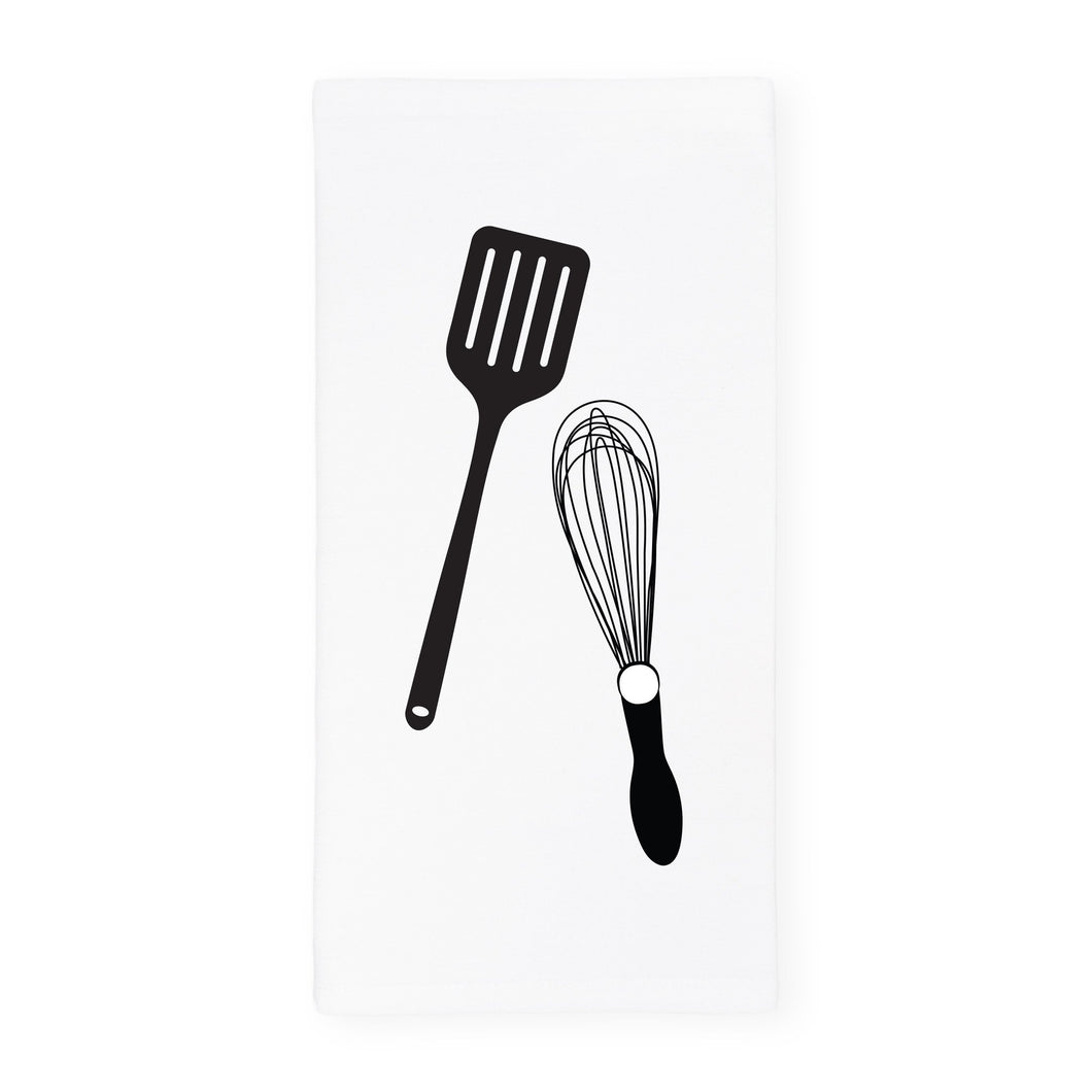 Whisk and Spatula Kitchen Tea Towel