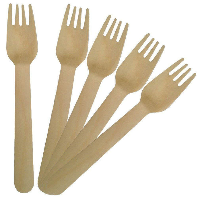 Wooden Disposable Forks (100 count)
